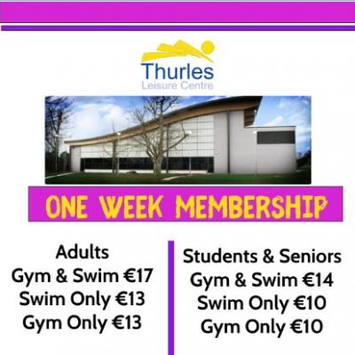 ONE WEEK MEMBERSHIPS