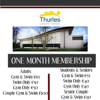 One Month Memberships