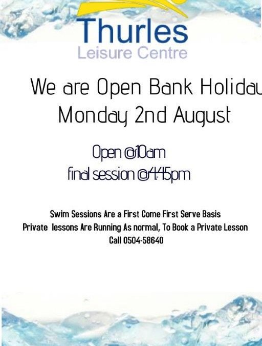 We Open Bank Holiday Monday